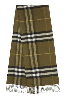 Кашемировый шарф цвета хаки Burberry 10188646