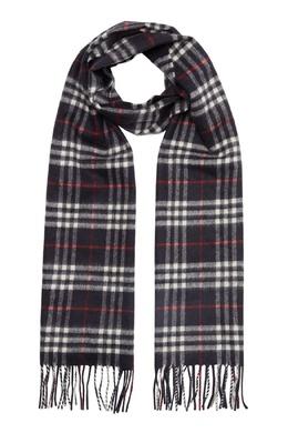 Черный шарф в клетку Burberry 10189103