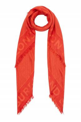Большой шарф красно-оранжевого цвета Burberry 10188696