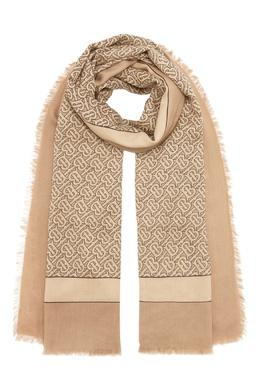 Бежевый шарф из кашемира Burberry 10189121