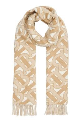 Светло-бежевый шарф с монограммой Burberry 10189120