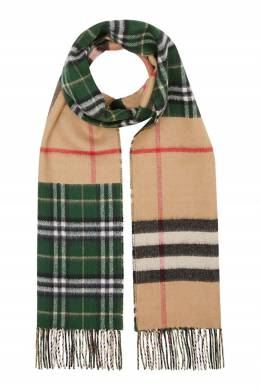 Кашемировый шарф с комбинированным узором Burberry 10188687