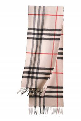 Кашемировый шарф в контрастную клетку Burberry 10189163