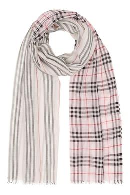 Светлый шарф в клетку Vintage Check Burberry 10188580
