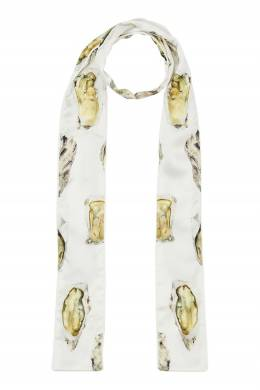 Узкий шарф с принтом Oyster Burberry 10188535