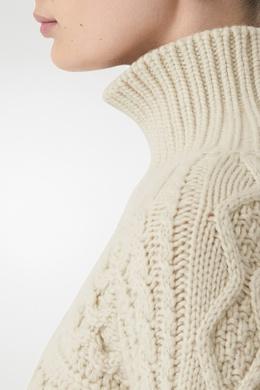 Кашемировый свитер с контрастными манжетами Burberry 10188534