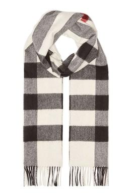 Кашемировый шарф в черно-белой гамме Burberry 10188626
