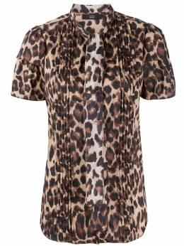 Steffen Schraut блузка с леопардовым принтом и складками 20024633