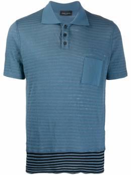 Roberto Collina полосатая рубашка-поло с короткими рукавами RC67024