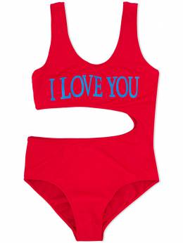 Alberta Ferretti Kids I Love You swim suit 022177