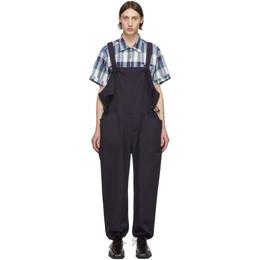 Engineered Garments Navy Cotton Overalls 20S1F009