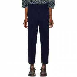 Homme Plisse Issey Miyake Blue Pleated Trousers HP06JF112