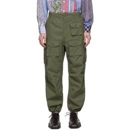 Engineered Garments Green Cotton Cargo Pants 20S1F016