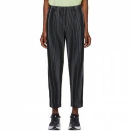 Homme Plisse Issey Miyake Navy Tailored Trousers HP06JF204