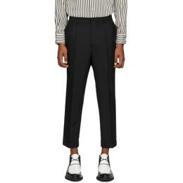 Ami Alexandre Mattiussi Black Wool Carrot Trousers E20HT402.207
