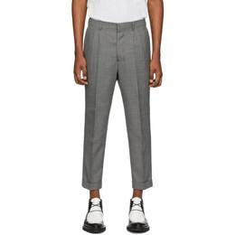 Ami Alexandre Mattiussi Grey Wool Carrot Trousers E20HT402.207