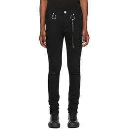 Mastermind World Black Skinny Jeans MW20S04-PA001-000