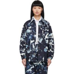Blue Blue Japan Indigo Denim Kago Bassen Coach Jacket 700079931 J6301