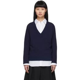 Blue Blue Japan Indigo V-Neck Pullover 700079948 J6402