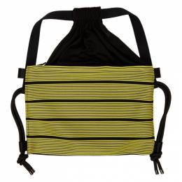 132 5. Issey Miyake Black and Yellow Stripe Bag IL06AG212