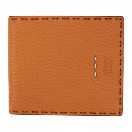 Fendi Orange Roman Bifold Wallet 7M0193 O72
