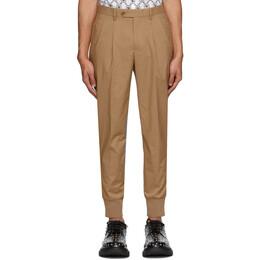 Neil Barrett Beige Double Pocket Pleated Trousers PBPA 764 N024