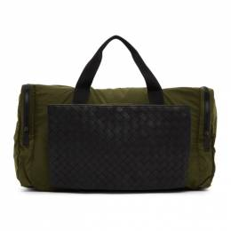 Bottega Veneta Green Intrecciato Packable Duffle Bag 609917 VCQG1