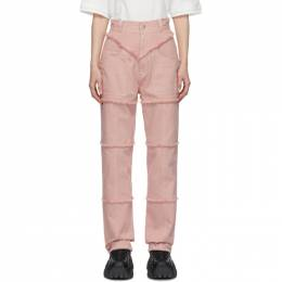 Ambush Pink High-Waisted Jeans 12112054