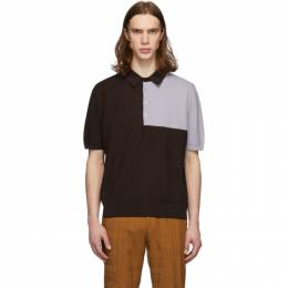 Paul Smith Brown and Purple Panel Polo M1R-797T-A01079