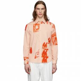 Paul Smith Pink Abstract Collage Shirt M1R-027U-A01061
