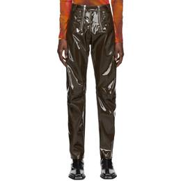 Gmbh Khaki Vinyl Trousers THOR