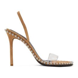 Alexander Wang Brown Suede Nova Heeled Sandals 3028S0031S