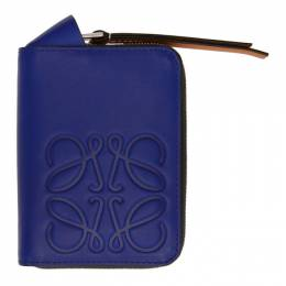 Loewe Blue Brand 6 Card Zip Wallet 106.54NV32