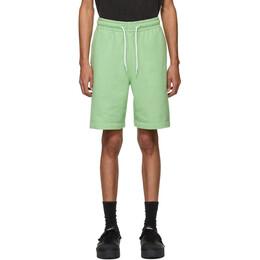 Alexander Wang Green Garment Washed Terry Shorts 6CC1204027