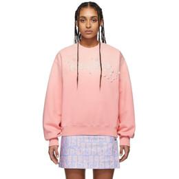 Kenzo Pink Beaded Logo Sweatshirt FA52SW611959