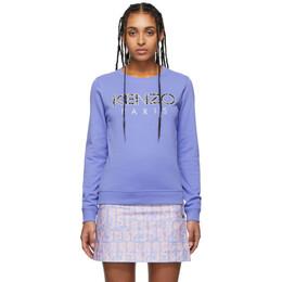 Kenzo Purple Logo Sweatshirt FA52SW707962