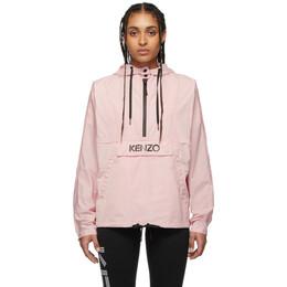 Kenzo Pink Packable Logo Windbreaker Jacket FA52BL103567