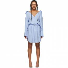 Alexander Wang Blue Shrugged Off Shirt Dress 1WC1206240