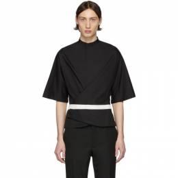 Haider Ackermann Black Wrap Belt Shirt 203-3610-128-099