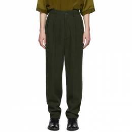 Haider Ackermann Green High-Waist Trousers 203-3408-143-035