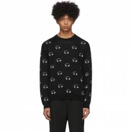 Kenzo Black All Over Eye Sweatshirt FA55PU5023XF