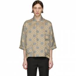 Haider Ackermann Grey Short Sleeve Pyjama Shirt 203-3608-134-029