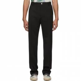 Kenzo Black Wool Urban Slim Trousers FA55PA1011AB