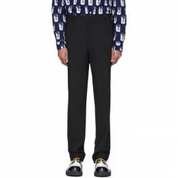 Kenzo Black Wool Formal Slim Trousers FA55PB2201AA