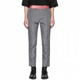 Haider Ackermann Grey Skinny Classic Trousers 203-3400-470-097