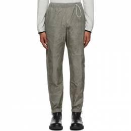 Kenzo Taupe Coated Taffeta Lounge Pants FA55PA6831NW