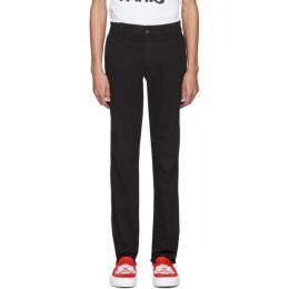 Kenzo Black Chino Trousers FA55PA2521TF