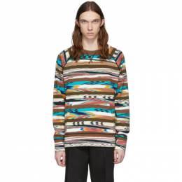 Missoni Brown and Multicolor Print Sweatshirt MUN00238-BK00I4