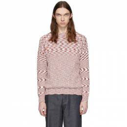 Missoni White and Red Knit Sweater MUN00231-BK00HR