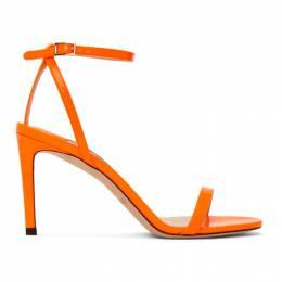 Jimmy Choo Orange Patent Minny 85 Sandals MINNY 85 NEP